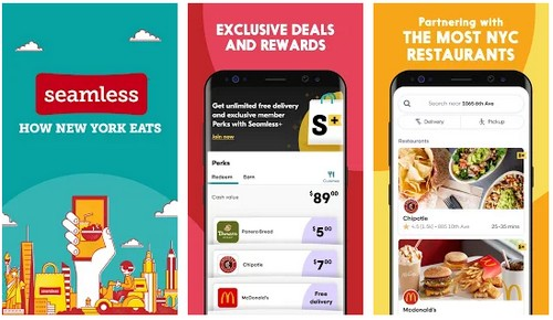 Seamless Restaurant Takeout Food Delivery App