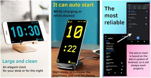 Huge Digital Clock screen saver app