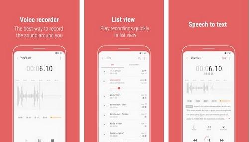 Samsung Voice Recorder apps