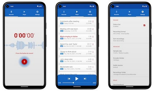 Voice Recorder apps