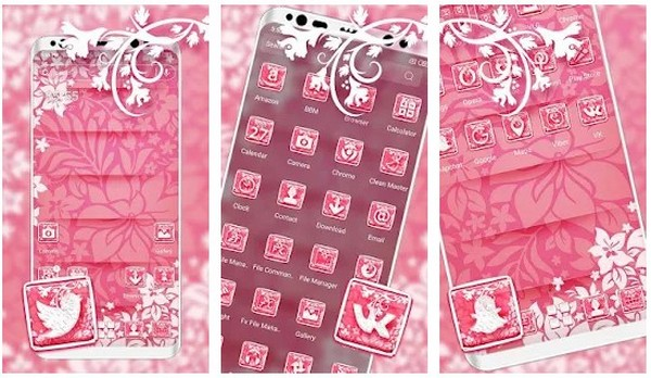Soft Pink Launcher Themes
