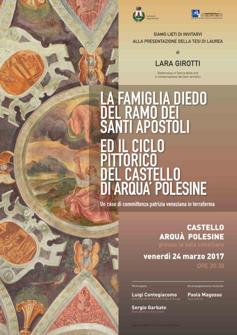 La famiglia Diedo ed il ciclo pittorico del Castello di Arquà Polesine