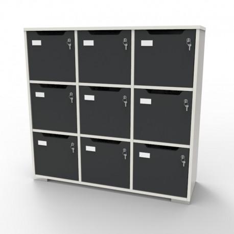 meuble casier en bois blanc caseo9 a 9 cases