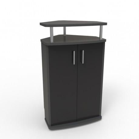 meuble avec angle pour machine a cafe noir ristretto