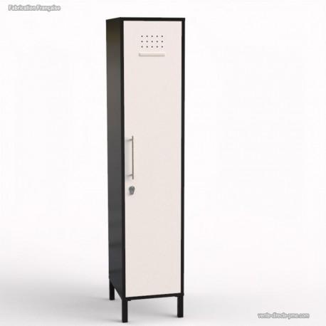 vestiaire casier en bois graphite l40 cm 1 porte