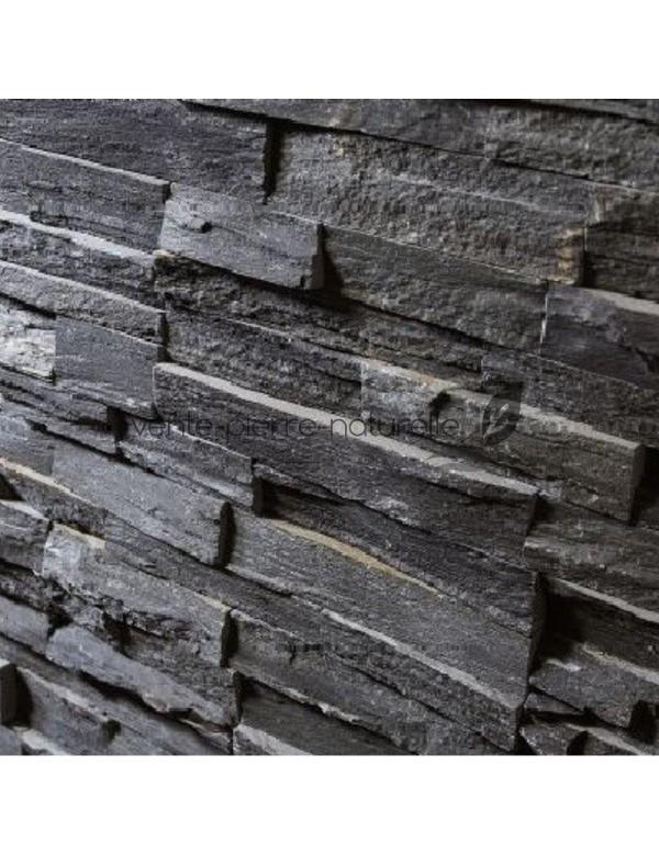 pierre de parement gris en ardoise