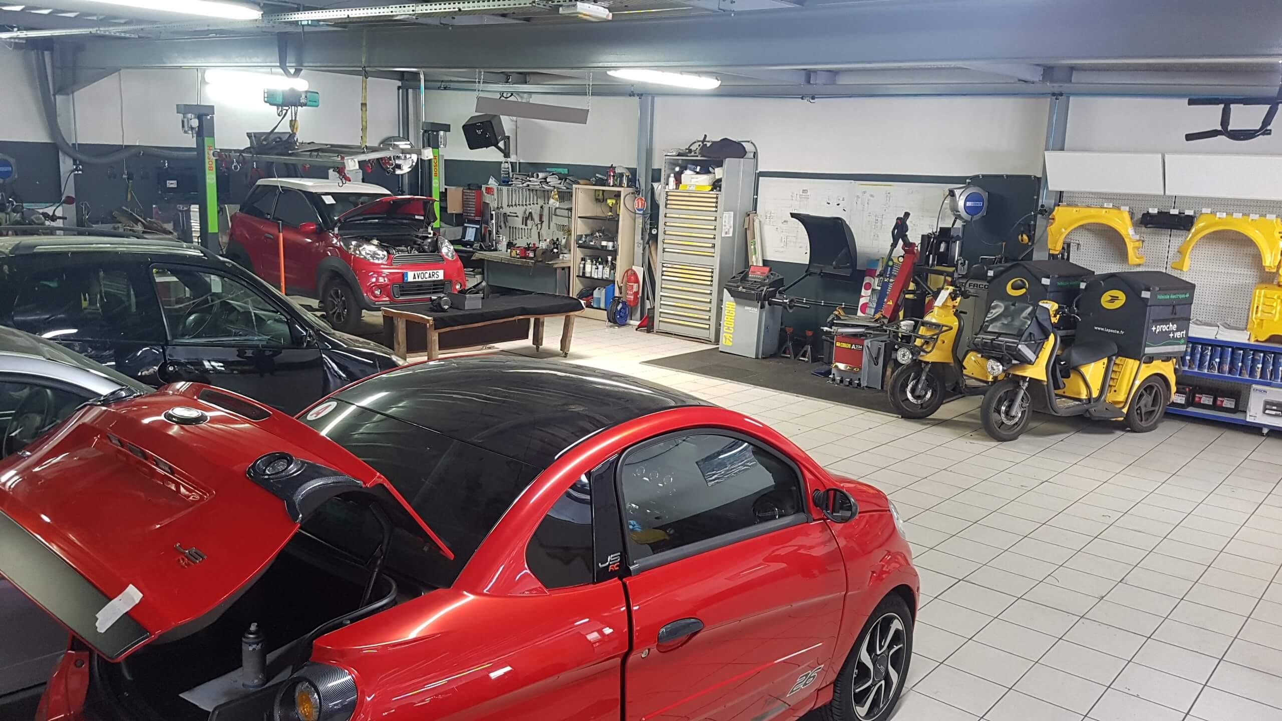 garage de voiture sans permis atelier