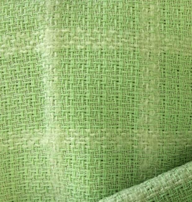 Rideau Voilage Tissu Au Metre Laine Vert Anis Vente De