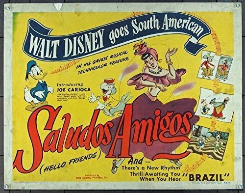 Saludos Amigos, locandina del classico Disney del 1942