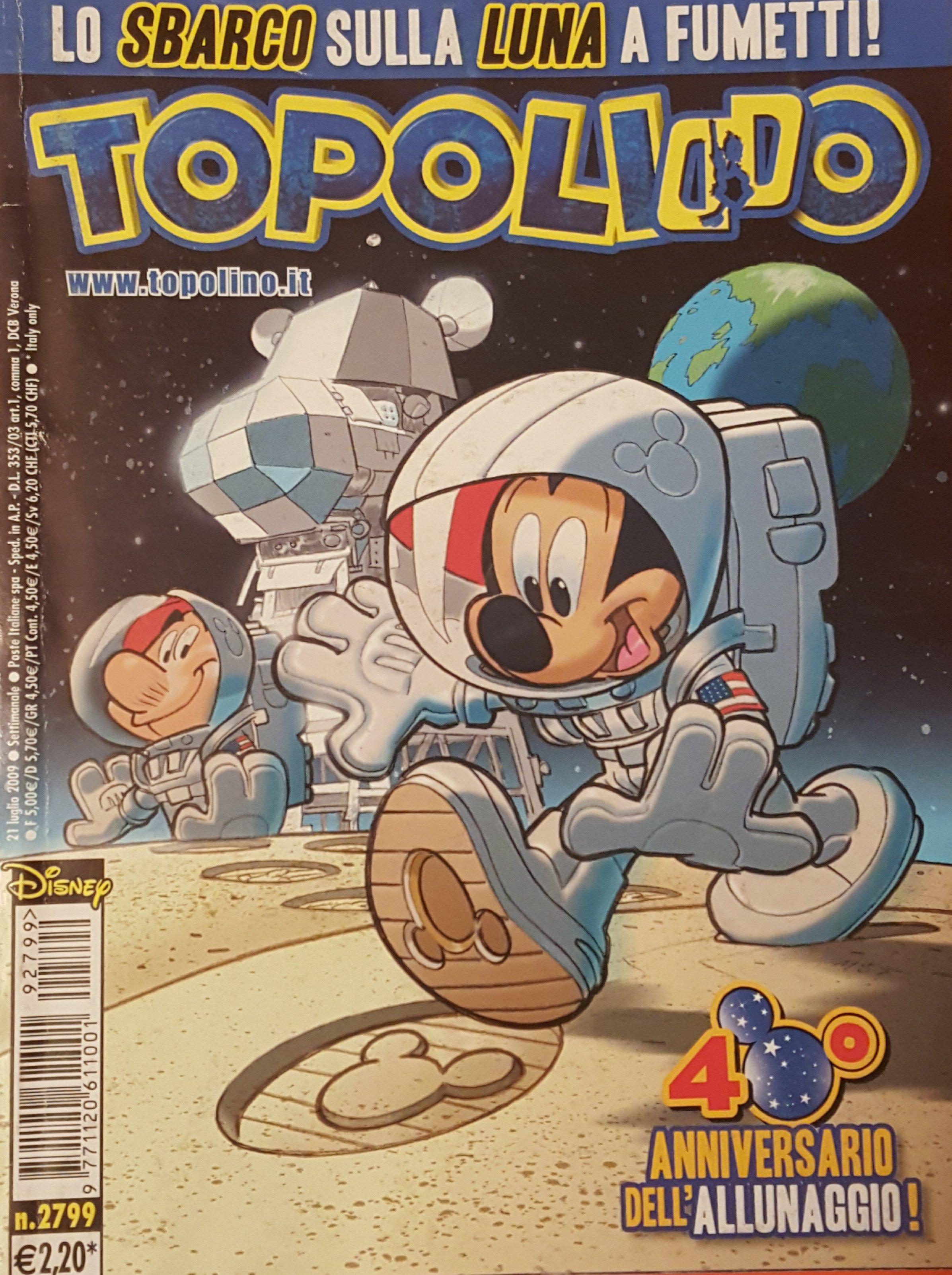 Il Topo e lo sbarco sulla luna: cinquant'anni di festeggiamenti