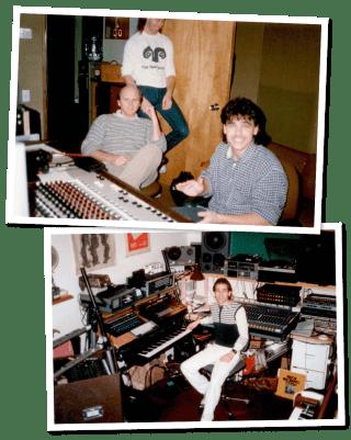 Mark Mueller e il suo team nel 1986