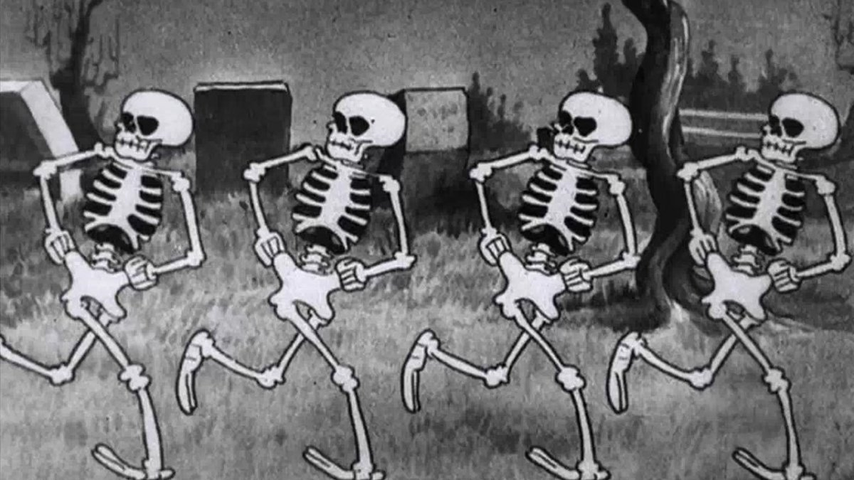 skeleton dance, horror, halloween, disney, animazione, silly symphony
