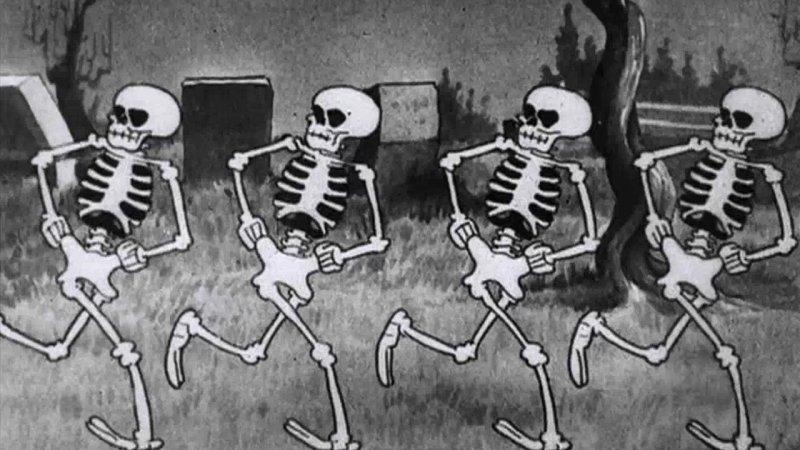 skeleton dance, horror, halloween, disney, animazione, silly symphony