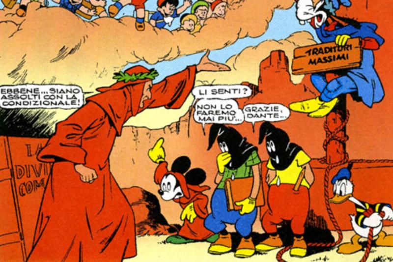 evangelion parodia inferno topolino