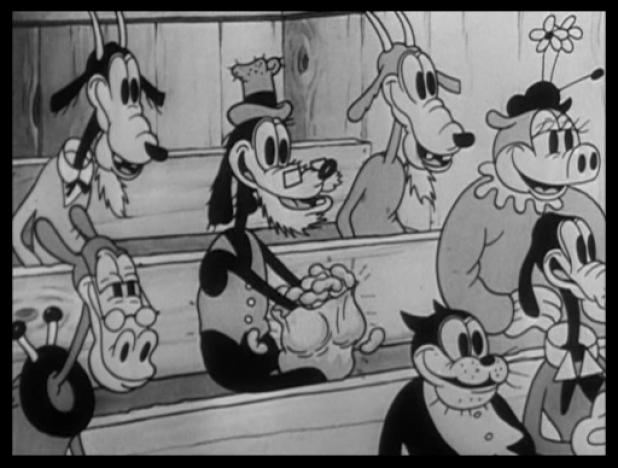 """La prima versione di Pippo """"Dippy Dawg"""" in una scena de """"La rivista di Topolino"""" - Perché Pluto non parla?"""