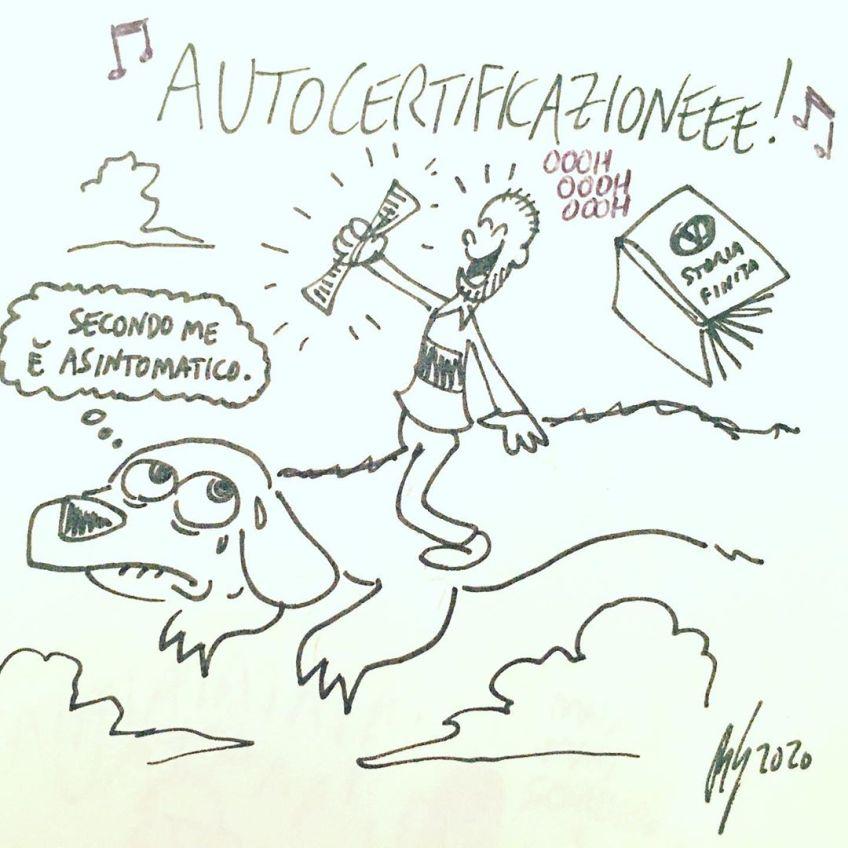 vignetta autocertificazione di roberto gagnor