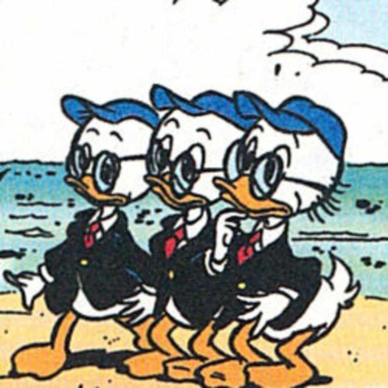 George, Patrick e Simeon Rockerduck