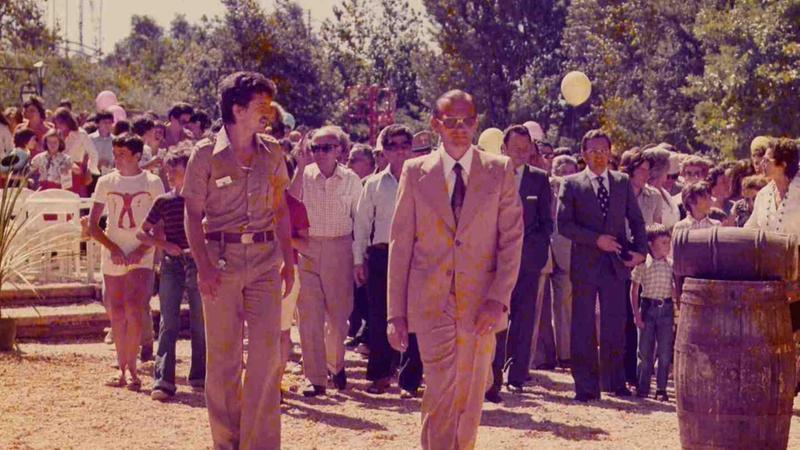 Livio Furini all'inaugurazione di Gardaland