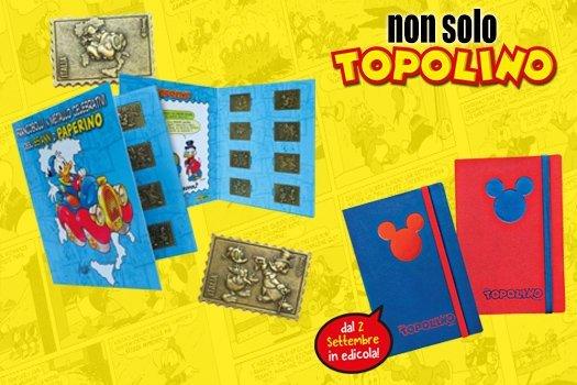 Non solo Topolino: a Settembre l'agenda notebook e i francobolli di Cavazzano