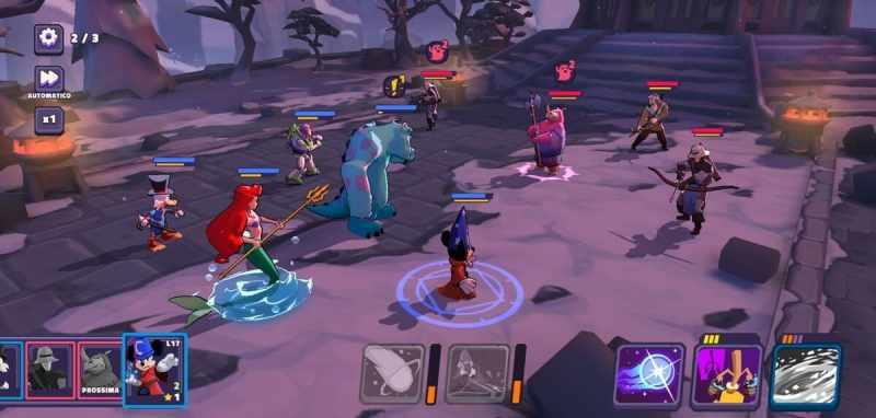 Disney Sorcerer's Arena battaglia