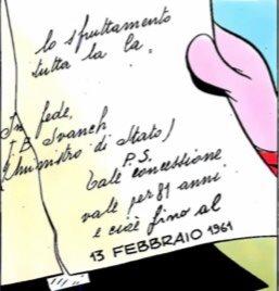 Documento che attesta la data di scadenza dell'impero di Topo The Kid