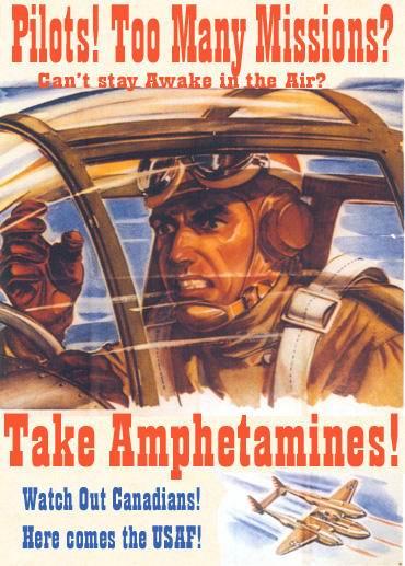 pubblicità vintage amfetamine aerei militari