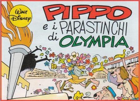 """Tavola di apertura de """"Pippo e i parastinchi di Olympia"""" (record storie Disney)"""