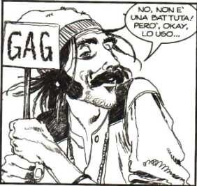 Caricatura di Paperoga in Dylan Dog