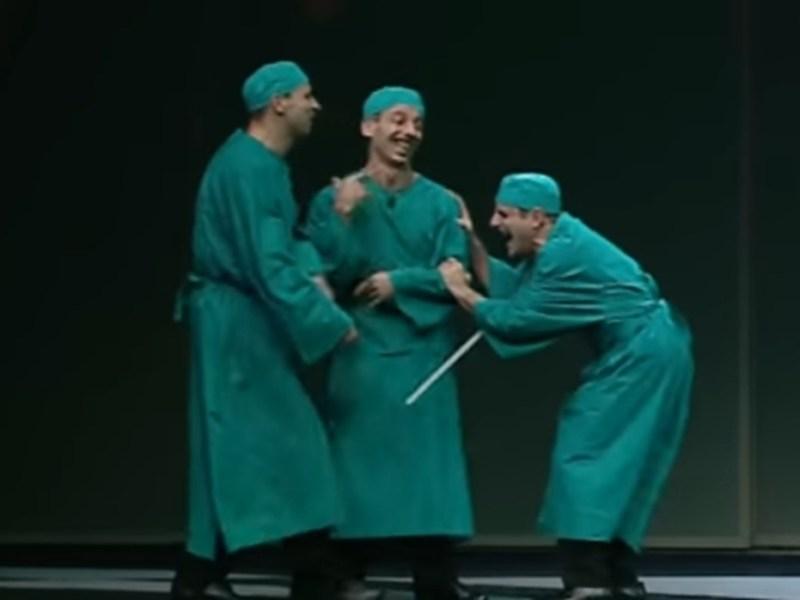 Sketch di Aldo, Giovanni e giacomo: i tre medici
