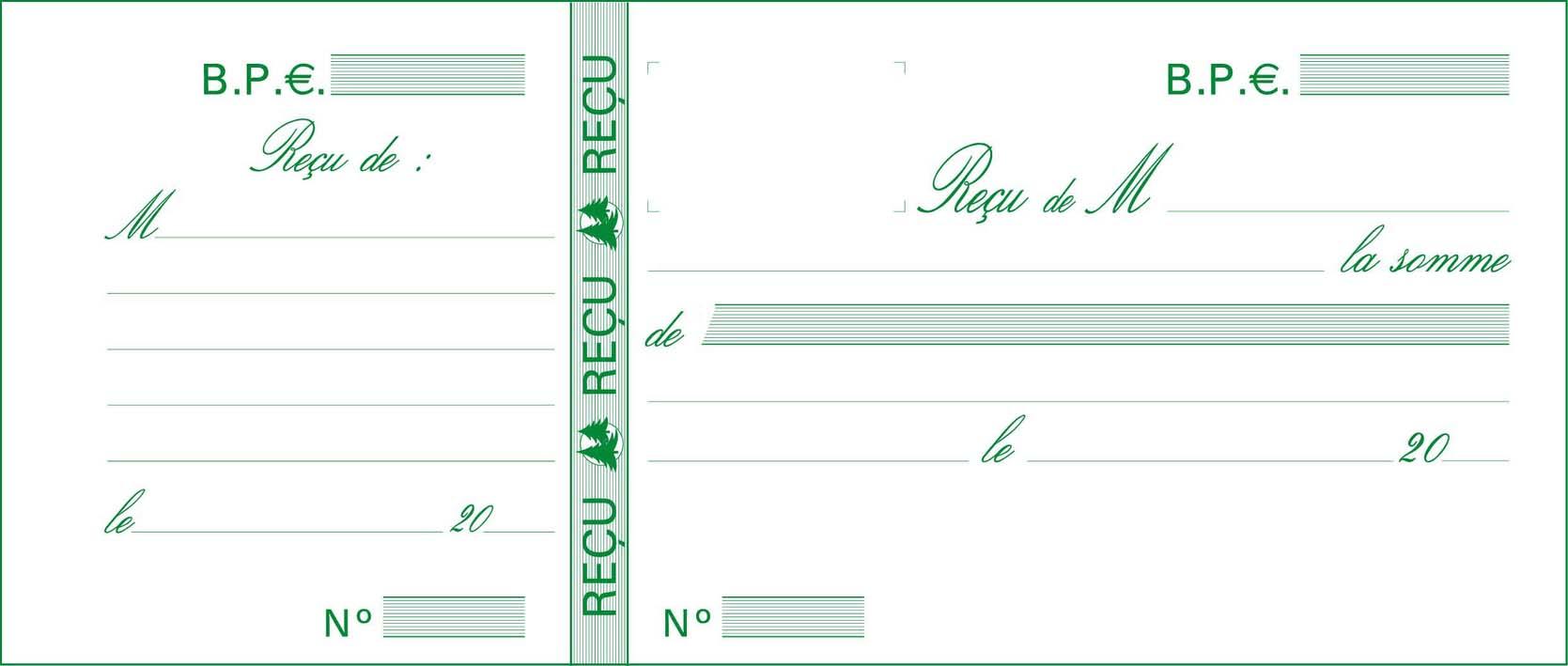RECUS De Paiement Carnet Souche Exacompta 10E Ventes Pro
