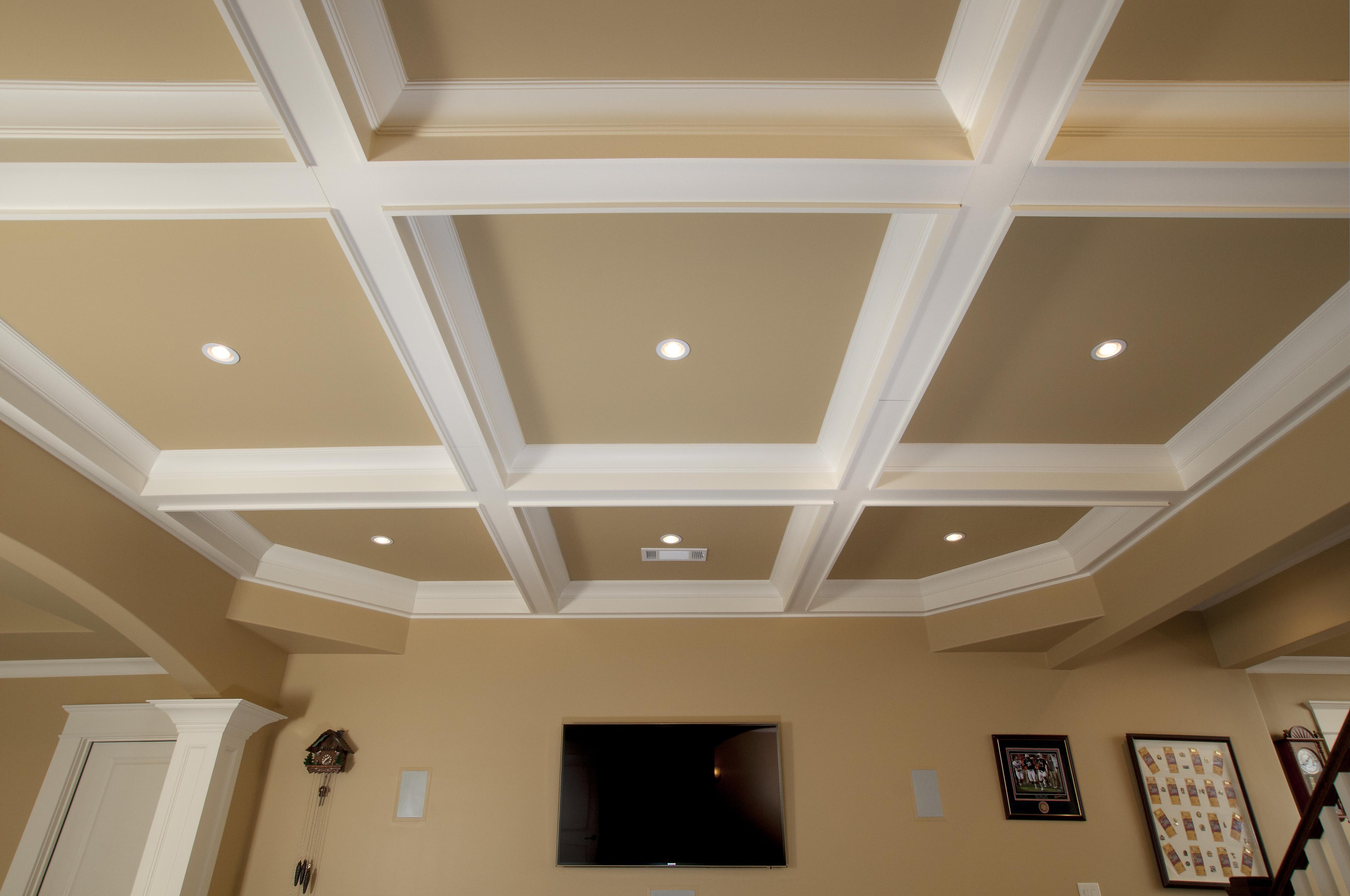 Coffered ceiling install how to install coffered ceiling tiles wwwenergywardennet dailygadgetfo Image collections