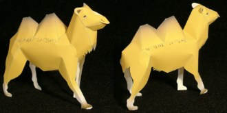 Papercraft imprimible y armable del Camello / Camel. Manualidades a Raudales.