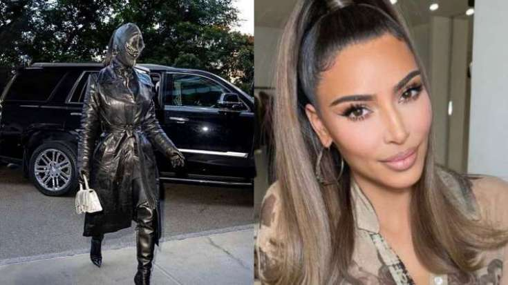 Kim Kardashian's Black Leather Head-to-toe Suit Leaves Fans In The Dark    PICS   VEP News