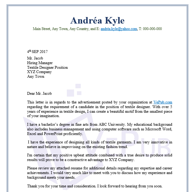 Resume Letter For Internship Exles Of Cover Letters Intern