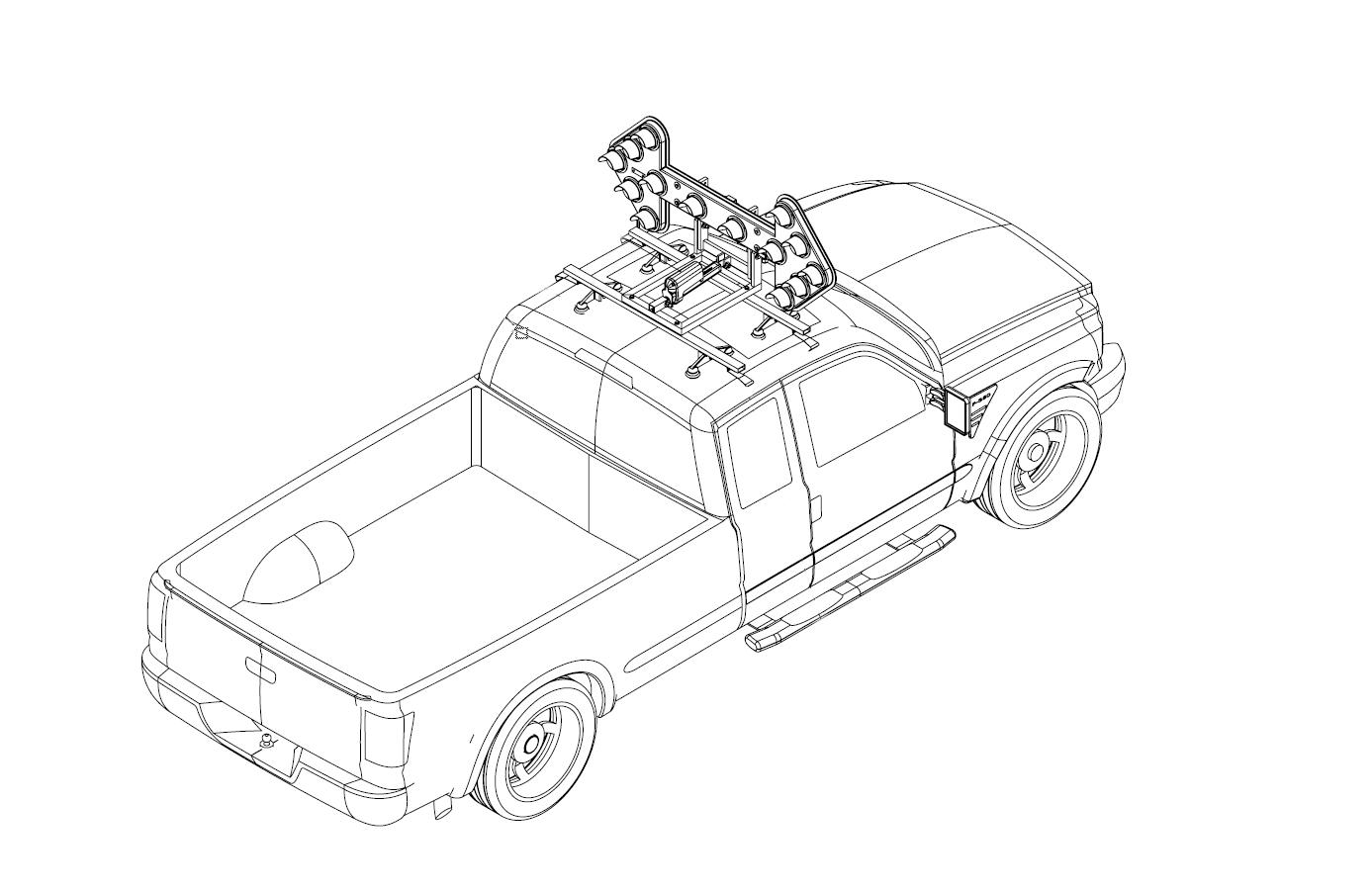 Vm 14v 14 Light Vehicle Mounted Arrowboard
