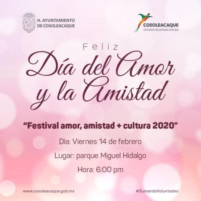 Invitación para el Festival del Amor y la Amistad 2020
