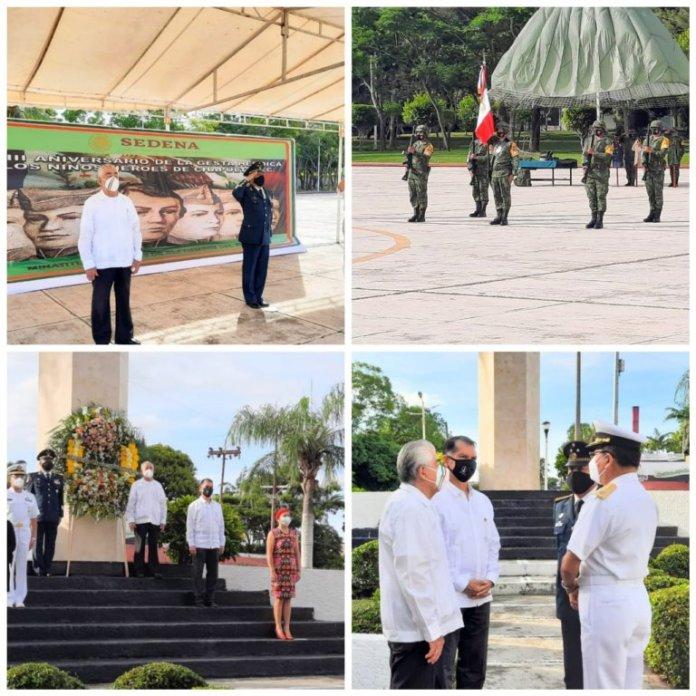 Realizan autoridades civiles y castrenses de Minatitlán homenaje del CLXXIII Aniversario de los Niños Héroes de Chapultepec