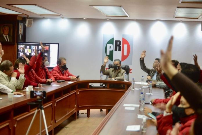 En Sesión Extraordinaria de la Comisión Política Permanente del PRI en Veracruz, se aprueba la integración de la Comisión de Procesos Internos, y de la Comisión de Postulación de Candidaturas para el proceso 2021