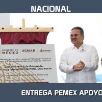 Entrega PEMEX apoyos a la SEMAR para fortalecer la seguridad en la Sonda de Campeche