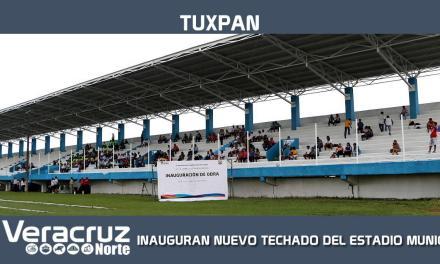 INAUGURAN NUEVO TECHADO DEL ESTADIO MUNICIPAL