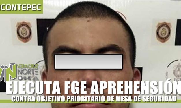 EJECUTA FGE APREHENSIÓN CONTRA OBJETIVO PRIORITARIO