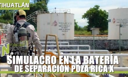 SIMULACRO EN LA BATERÍA DE SEPARACIÓN POZA RICA X