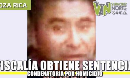 Fiscalía obtiene sentencia condenatoria contra homicida, en Poza Rica