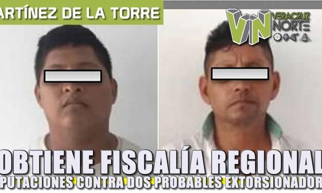 Obtiene Fiscalía Regional Xalapa imputaciones contra dos probables extorsionadores