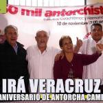 Irá Veracruz a 45 aniversario de Antorcha