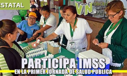 Participa IMSS en laprimer jornada de Salud Pública