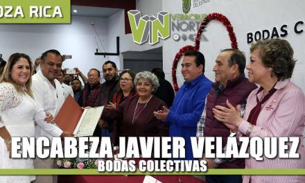 Encabeza Javier Velázquez bodas colectivas para 71 parejas.