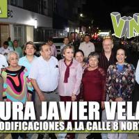 Inaugura Javier Velázquez modificaciones a la Calle 8 Norte