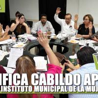 Ratifica cabildo apoyo al Instituto Municipal de la Mujer