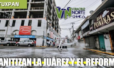 Sanitizan la Juárez y el Reforma